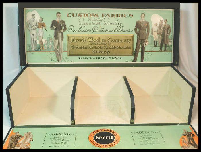 1936 Ferris Woolen Company store display