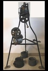 Antique knitting machine