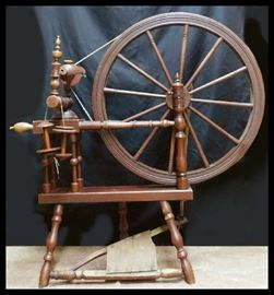 Alfred Andresen and Company spinning wheel made in Minneapolis, Minnesota