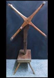 Antique wooden spool winder