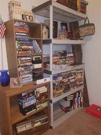 Books including vast array of study bibles, DVDs, VHSs, 8-tracks, & more!