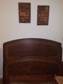 Flame mahogany full size bed (2 of 2)