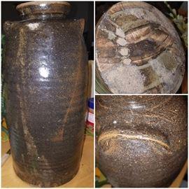 Tall North Georgia pottery storage jar