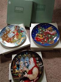 Avon Christmas plates