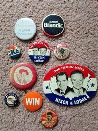 vintage campaign buttons--Nixon