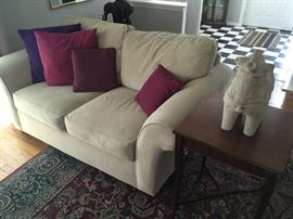 ivory sofa & love seat--excellent condition!