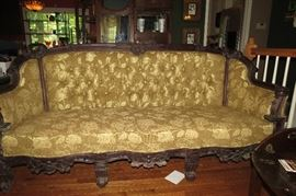 4 pieces of beautiful Victorian furniture.  Nicely upholstered.