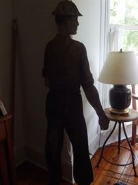 Cut out life size person.