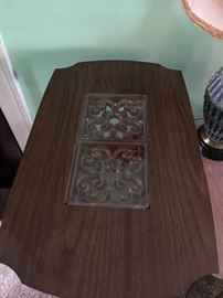 2 spanish, mediteranean end tables, solid wood