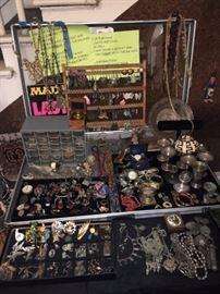 Loads of Costume Jewelry and 14k