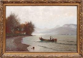 "2117 CURT (CARL) LEOPOLD (GERMAN, 1860-1946), OIL ON CANVAS H 29,25"" W 48"""