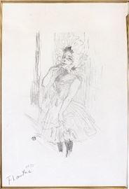 """2011 HENRI DE TOULOUSE-LAUTREC (FRENCH, 1864-1901), LITHOGRAPH, 1894, H 12 5/8"""", W 7 7/8"""", """"ANNA HELD DANS TOUTES DAMES AU THEATRE"""""""