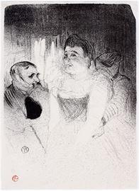 "2009 HENRI DE TOULOUSE-LAUTREC (FRENCH, 1864-1901), LITHOGRAPH, H 14 3/8"", W 10 1/2"", ""JUDIC"""