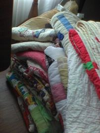 Large collection of Handmade Quilts