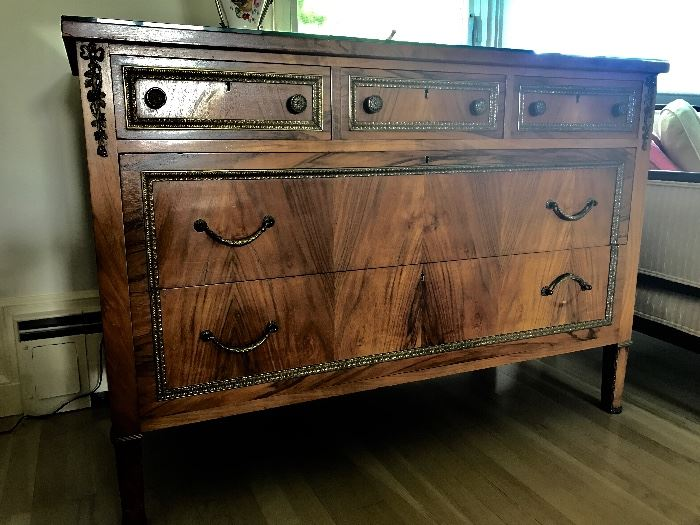 Antique European three drawers over two