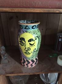 Eclectic original Matt Nolan vase well known New York artist.