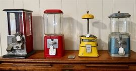 Vintage Candy/Gumball Machines