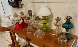 Many Oil Lamps - Aladdin and Others