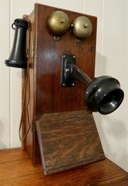 Antique Crank Wall Mount Telephone