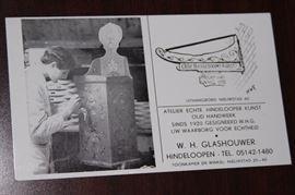 W. H. Glashouwer -Clock maker