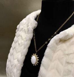 Fur with jewelry