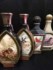 Vintage Jim Beam Whiskey bottles