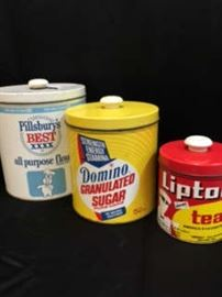 Vintage JL Clark tins
