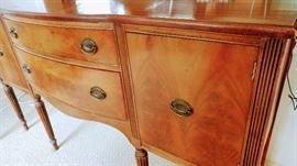 Vintage flamed mahogany sideboard