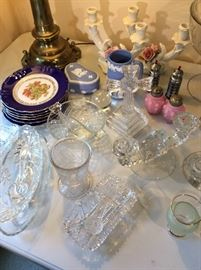 Nice crystal and dish ware.