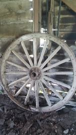 """Pair of wagon wheels approx. 48"""""""