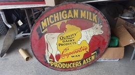 Vintage mint metal sign...1 sided...have 2