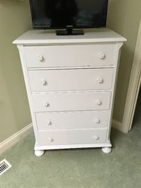 White painted dresser.