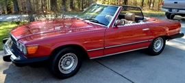 1984 Mercedes 380SL - Appears to be original paint, hard top and soft top - both tops are in excellent shape, ac is good, beige leather, wheels are original and tires are good, ,  No known accidents,  no known rust and the maintenance has been done at the same place in Cleveland