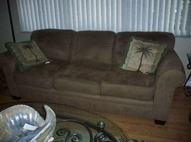Haining Happy Leather Co. Suede Sofa