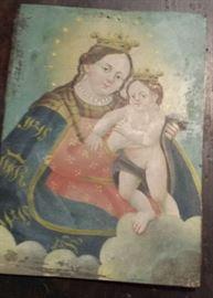 Folk art retablo