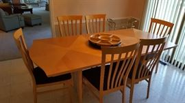 Italian Dining Table & 8 Chairs 6 Shown