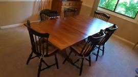 Hitchcock Stenciled Dining Table & Chairs