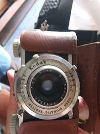 Several old cameras..