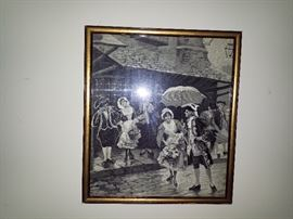 Silk woven pictures