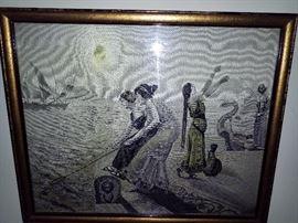 Silk woven picture