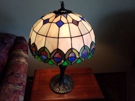 Tiffany style lamps.  There are 2 of these