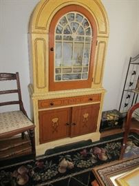 1930 CHINA CABINET HAVE A MATCHING TABLE AND CHAIRS
