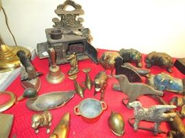 Old iron and brass items