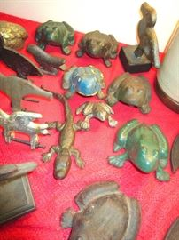 cast iron frogs, etc