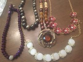 Crystal beads and rhinestones, and vintage!