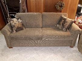Beige sleeper sofa (like new!)