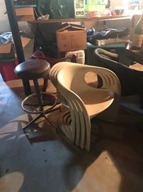 4 OF 8 MID CENTURY STACKING CHAIRS IN GREAT CONDITION