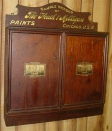 Wooden Store Wall Cabinet w/Advertising Paint