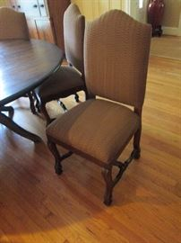 Cloase up of dining room chairs