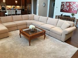 Jonathan Louis L-Shaped Beige Upholstered Sofa Grouping w/ Chaise - Right Detail